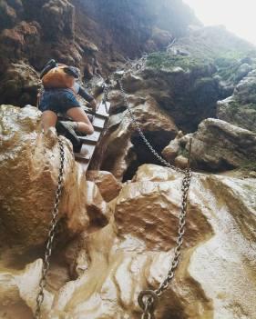 The descent to Mooney Falls