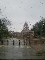 Rainy state capitol