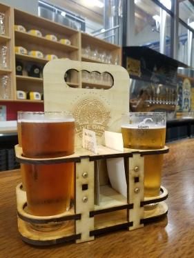Sampler of tasty beers