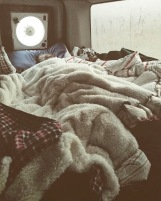 Snuggled up in my blanket nest