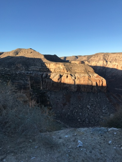 Morning sunlight on the canyon