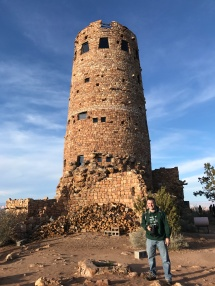 Steve by the watchtower