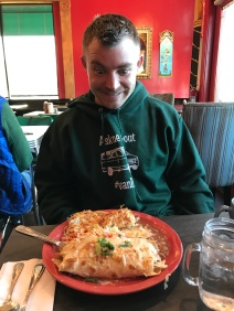 Steve and his breakfast burrito