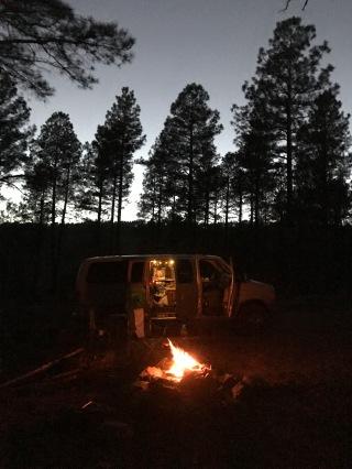 Campfires and vanlife