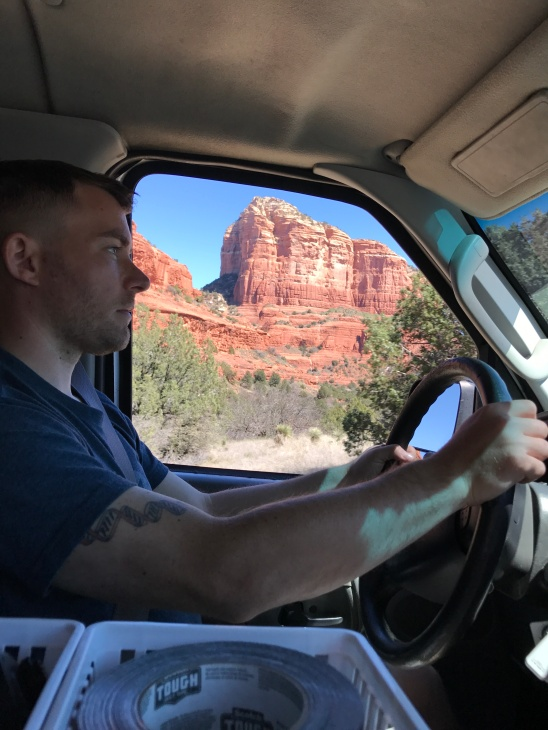 Driving through Sedona