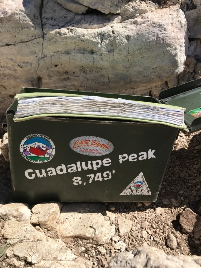 Guestbook for hikers