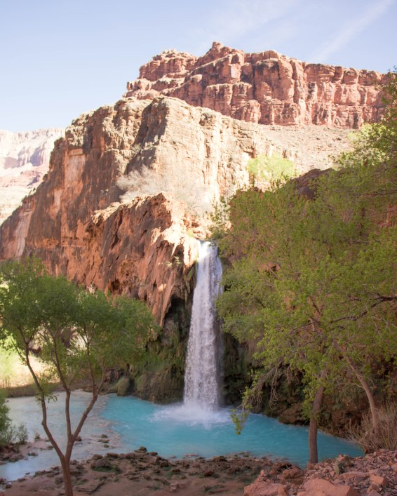 The brilliant blue water of Havasu Falls