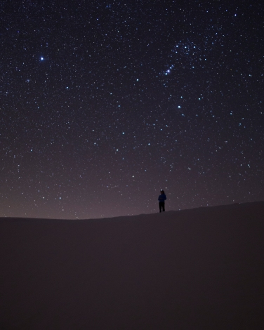 Night in the dunes (photo by Steve)