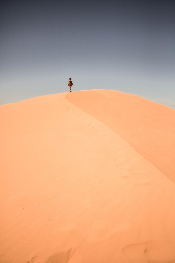 Me on the sand dune, photo by Steve!