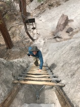 Steve climbing up