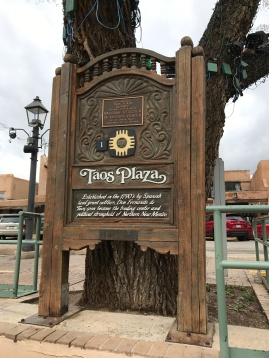 Taos Plaza in the center of town