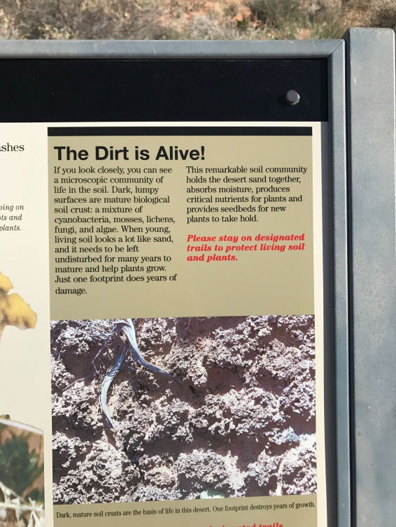Sign about the living soil