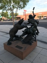 One of the many statues in town
