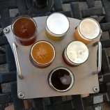 Delicious flight of beers!