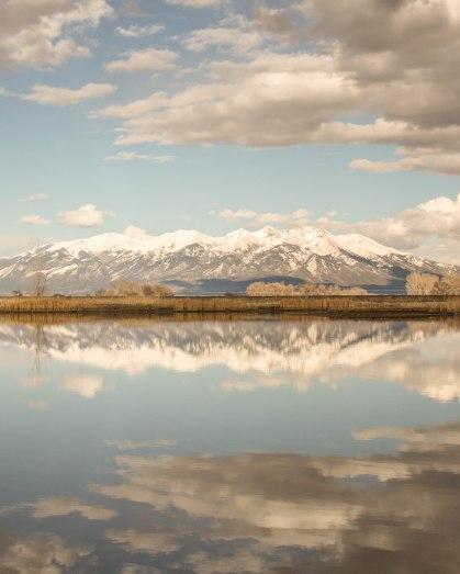 Beautiful mountain reflections
