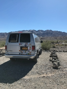 Free campsite in Death Valley