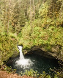 Punch Bowl Falls from above